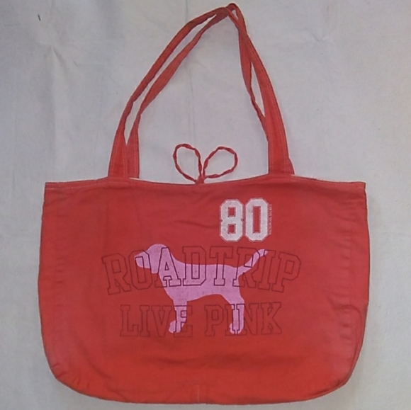 PINK Victoria's Secret Handbags - FREEw/BUNDLE PINK Reversible Canvas RoadTrip Tote